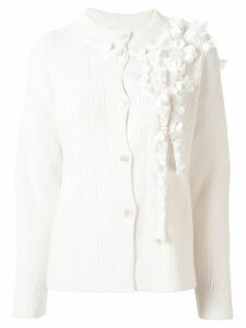 Onefifteen floral embellished cardigan - White