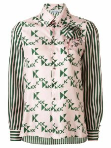 Dice Kayek geometric patterned shirt - PINK
