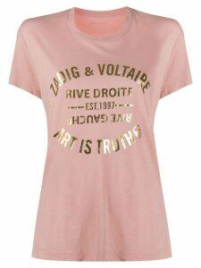 Zadig & Voltaire metallic logo T-shirt - PINK