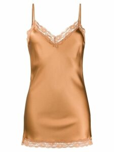 Max & Moi lace-trimmed satin camisole - Brown