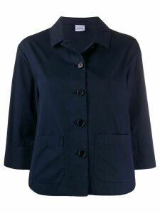 Aspesi patch pocket shirt jacket - Blue