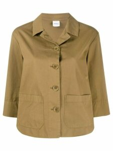 Aspesi patch pocket cotton shirt jacket - NEUTRALS