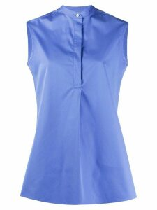 Aspesi sleeveless buttoned cotton blouse - Blue