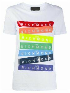 John Richmond rainbow logo print T-shirt - White