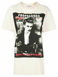 Acne Studios VIP Erice Magazine cotton T-shirt - NEUTRALS