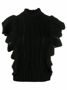 Zadig & Voltaire Fashion Show ruffle knit jumper - Black