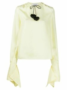 LANVIN drawstring-neckline blouse - Yellow