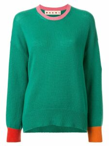Marni contrasting detail jumper - Green