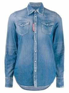 Dsquared2 western style denim shirt - Blue