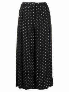 Pinko polka dot cropped trousers - Black