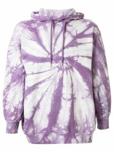 Ground Zero oversized tie-dye hoodie - PURPLE