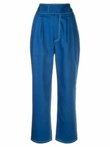 Harvey Faircloth high-waisted tapered trousers - Blue