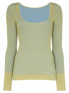 Jacquemus La Maille Rosa striped knit top - Green