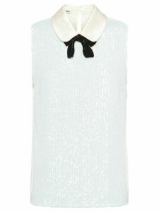 Miu Miu sequin-embellished top - White
