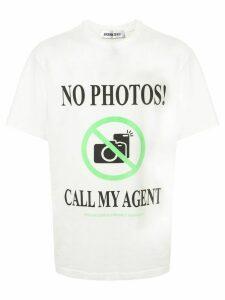 Ground Zero call my agent T-shirt - WHITE
