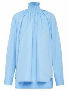 Prada stand-up collar shirt - Blue