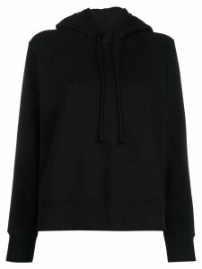 Mm6 Maison Margiela short hooded sweatshirt - Black