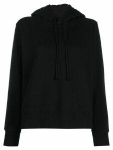 Mm6 Maison Margiela short hooded sweatshirt - Black