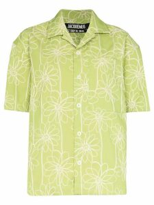 Jacquemus La Chemise Jean embroidered shirt - Green