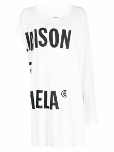 Mm6 Maison Margiela oversized asymmetric T-shirt - White