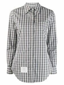 Thom Browne micro buffalo check classic shirt - Grey