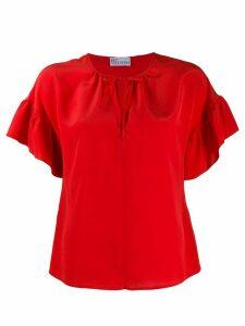 RedValentino ruffled-sleeve short blouse