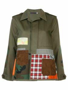 Harvey Faircloth patchwork jacket - Green