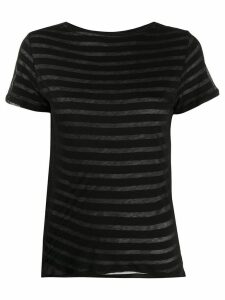 Majestic Filatures layered stripe cotton T-shirt - Black