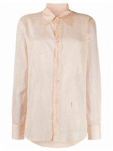Dsquared2 wrinkled-effect shirt - PINK