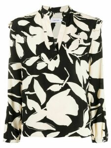 Calvin Klein abstract floral blouse - NEUTRALS