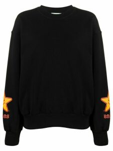 Aries star print sweatshirt - Black