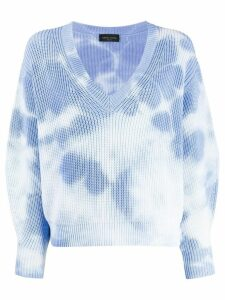 Roberto Collina tie-dye jumper - Blue