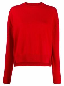 Closed relaxed-fit cropped jumper - Red