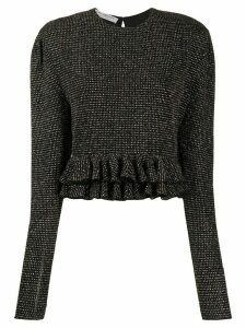 Philosophy Di Lorenzo Serafini crystal-embellished ruffled top - Black
