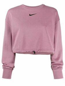 Nike logo print cropped sweatshirt - PINK