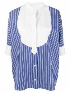 Sacai striped poplin shirt - Blue