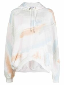 Collina Strada x Charlie Engman brush strokes print hoodie - NEUTRALS
