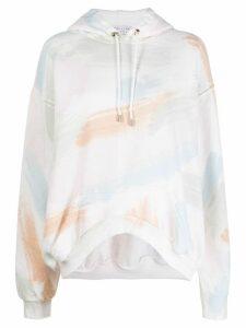 Collina Strada x Charlie Engman brush strokes print hoodie - NEUTRALS