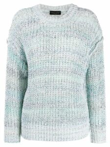 Roberto Collina chunky knit jumper - Blue