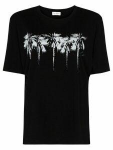 Saint Laurent Palm Tree logo print T-shirt - Black
