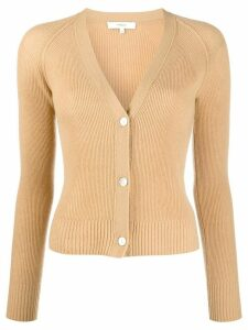 Vince ribbed knit cardigan - NEUTRALS