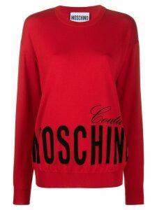 Moschino graphic print sweatshirt - Red