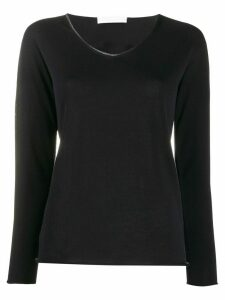 Fabiana Filippi studded collar jumper - Black