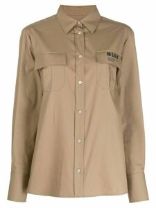 MSGM flap pocket shirt - NEUTRALS