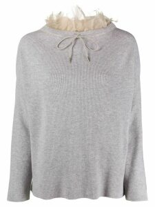 Fabiana Filippi Mad chiffon collar jumper - Grey