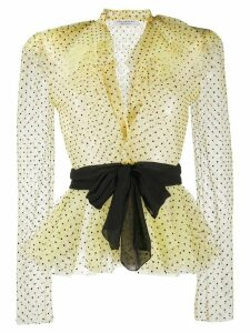 Philosophy Di Lorenzo Serafini sheer polka-dot blouse - Yellow
