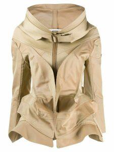 Junya Watanabe round neck layered jacket - NEUTRALS