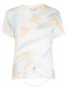 Collina Strada x Charlie Engman brush strokes print T-shirt - NEUTRALS