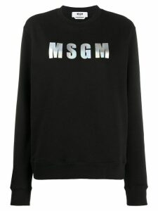 MSGM logo patch sweatshirt - Black