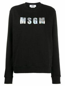 MSGM logo patch sweatshirt - Black
